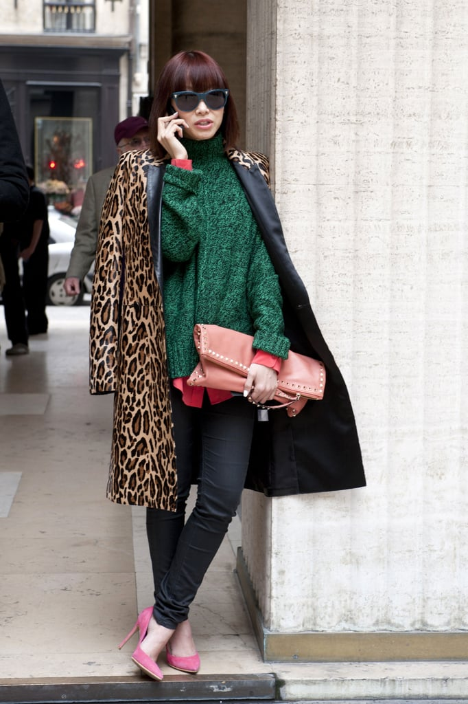 High-impact colors topped off with leopard print.