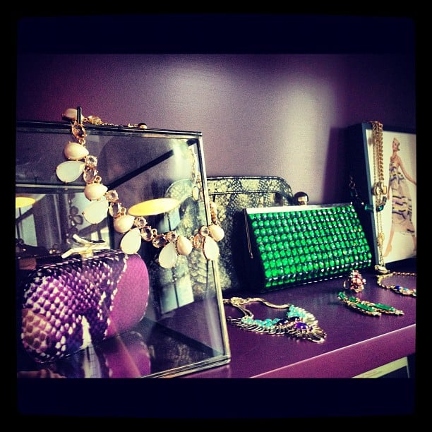 Lust-worthy accessories at the Rent the Runway showroom.