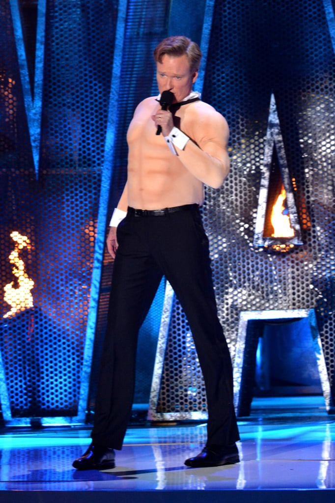 Conan also modeled his best Magic Mike look.
