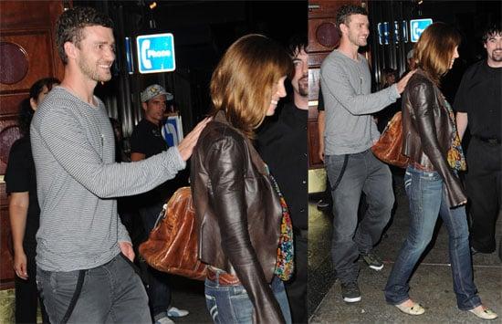 Photos of Justin Timberlake and Jessica Biel Leaving a LA Comedy Club