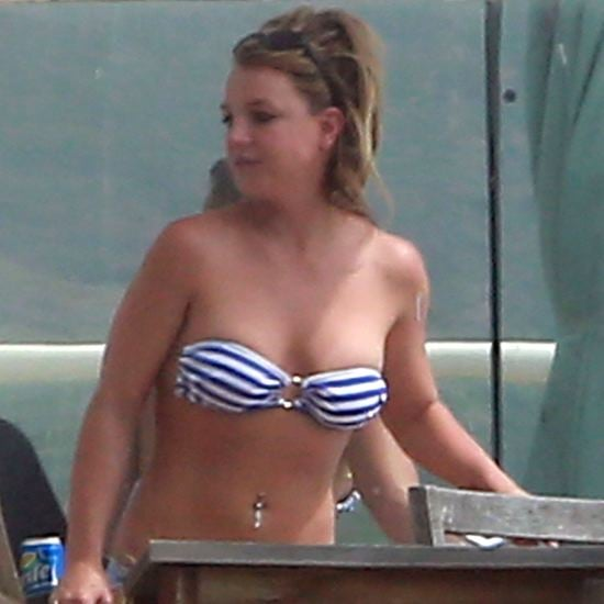 Britney Spears in Striped Bikini | Video