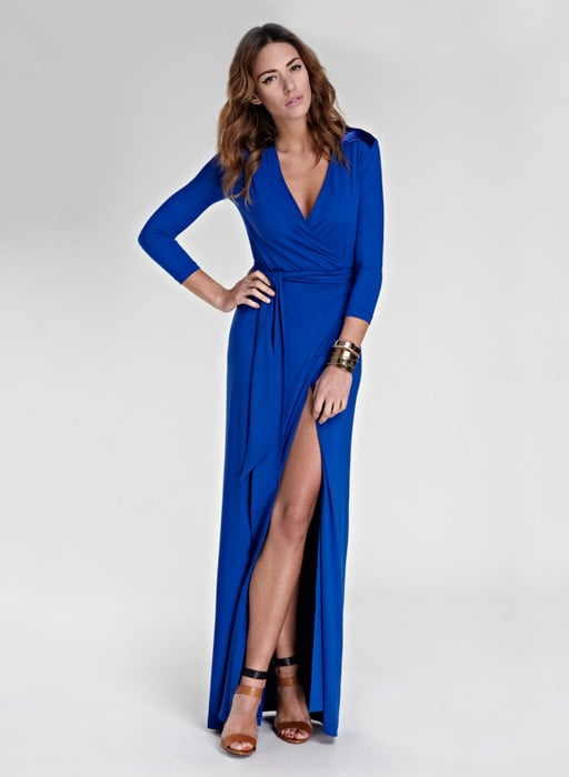 Isabella Oliver's cobalt maxi dress ($189, originally $225) is one of our favorites. We can't get enough of that sexy slit.