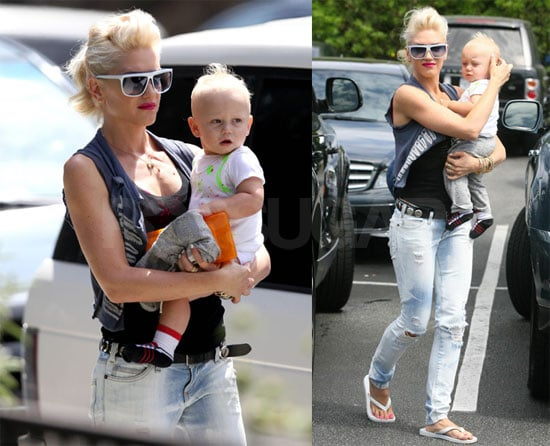 Photos of Gwen Stefani, Kingston Rossdale, and Zuma Rossdale in LA