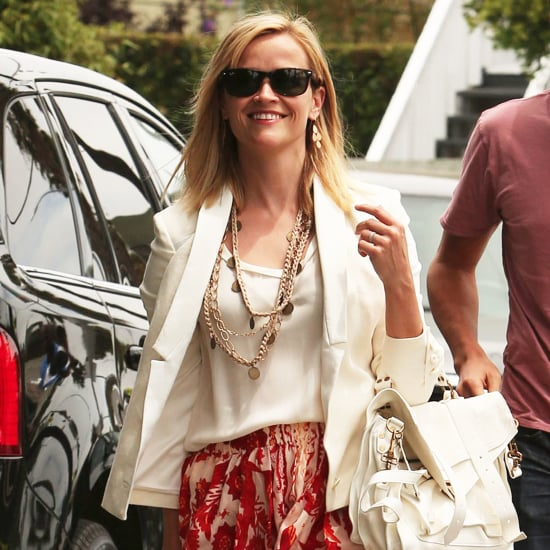 Reese Witherspoon Wearing Printed Skirt