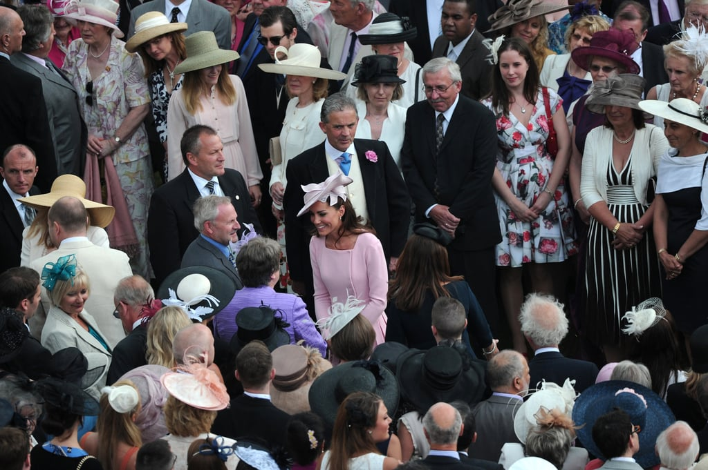 Kate Middleton turned heads at the garden party at Buckingham Palace.