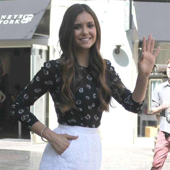 Nina Dobrev on Extra at The Grove  | Pictures