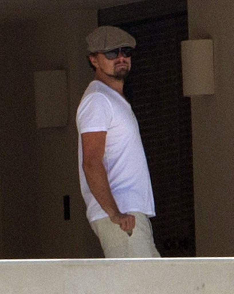 Leonardo DiCaprio wore a cap and shades while hanging out in Ibiza on August 6.