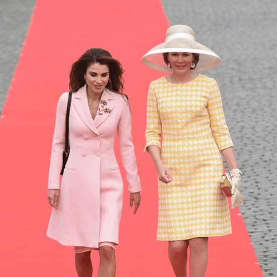 Queen Rania's Pink Coat May 2016