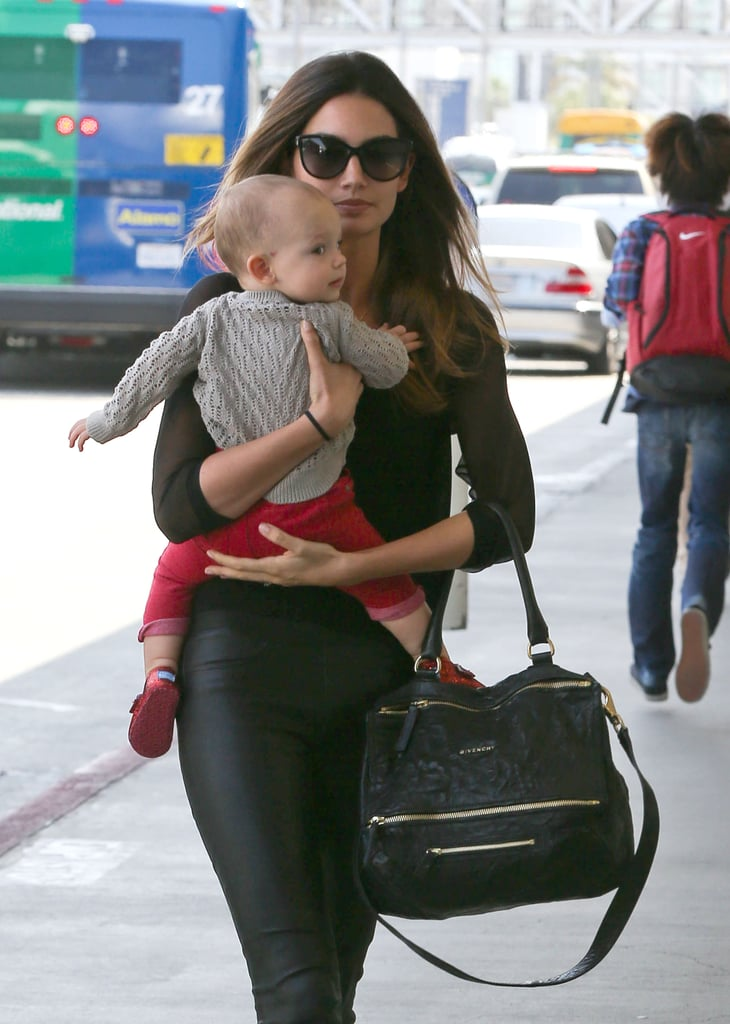 Lily Aldridge and her daughter, Dixie Followill, took off together out of LA.