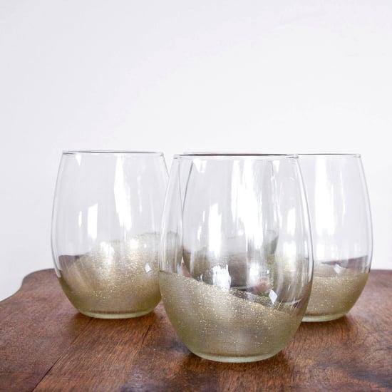 Glitter-Painted Glasses