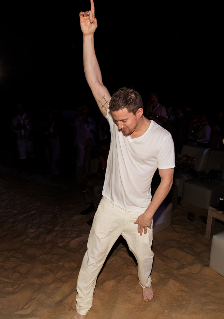 Channing Tatum let loose in the sand while partying in Cancun, Mexico, at the Summer of Sony party in April.