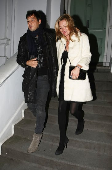 Pictures of Kate Moss With Jamie Hince in London Amid Reports She's Designing Her Own Wedding Dress