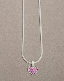Lagos Pink Sapphire Heart Necklace ($175)