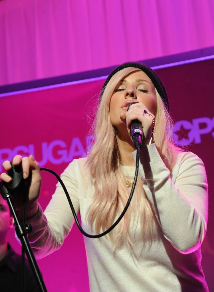 Ellie Goulding sang songs from her critically-acclaimed new album, Halcyon.