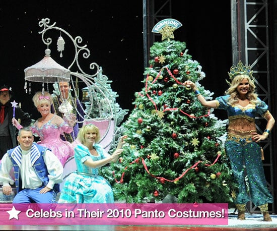 Pictures of Celebrities in Pantomime Costumes Christmas 2010