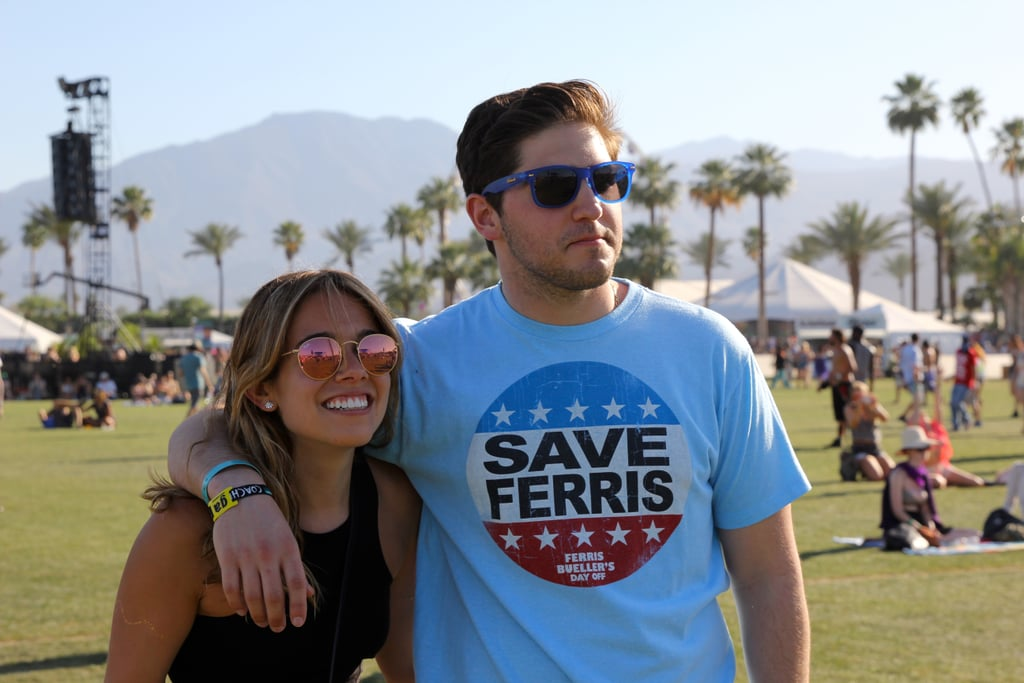 A couple enjoyed the shows at Coachella in 2015.