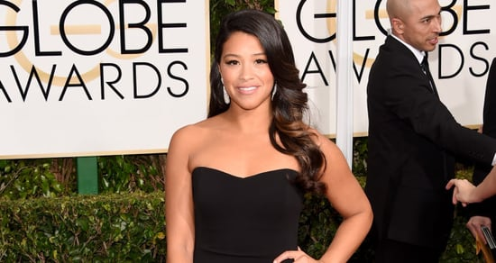 Gina Rodriguez Lends Her Golden Globes Dress to Fan for Prom