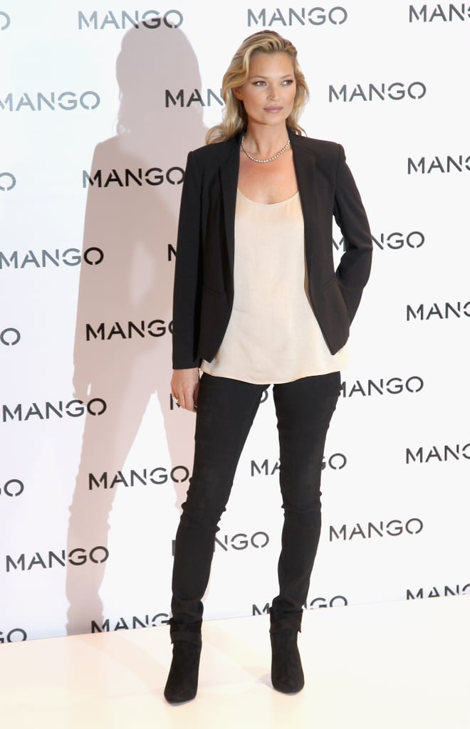 Kate Moss attended a Mango event in the UK.