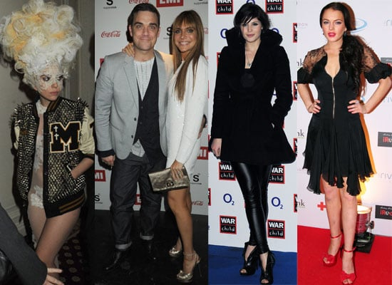 Photos of Celebrities at the Brit Awards After Parties including Lindsay Lohan, Robbie Williams, Noel Gallagher, Lady GaGa 2010-02-17 02:20:25