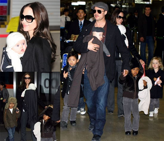 Brad and Angelina Show Off Knox and Vivienne!