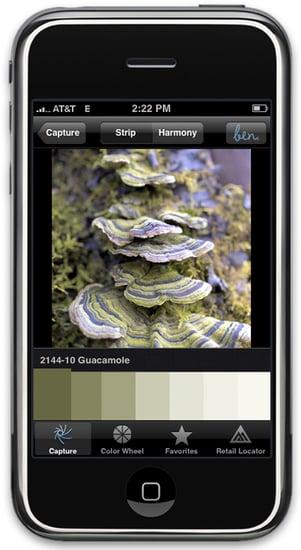 Benjamin Moore Launches Color-Paint-Matching iPhone App ben Color Capture