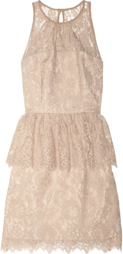 Milly Liza floral-lace peplum dress