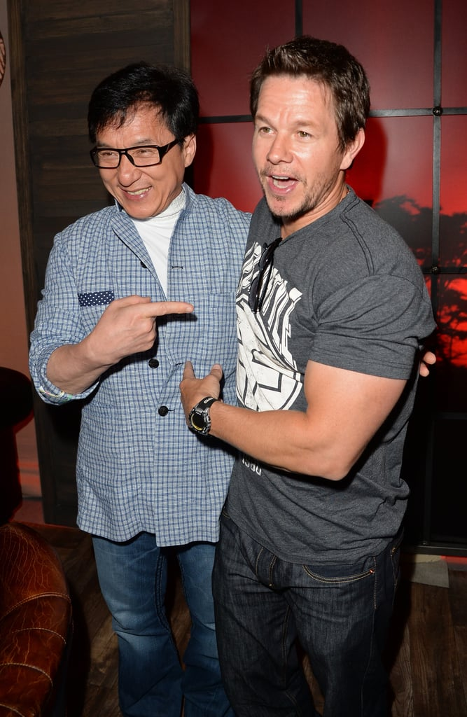 Mark Wahlberg and Jackie Chan posed together backstage.