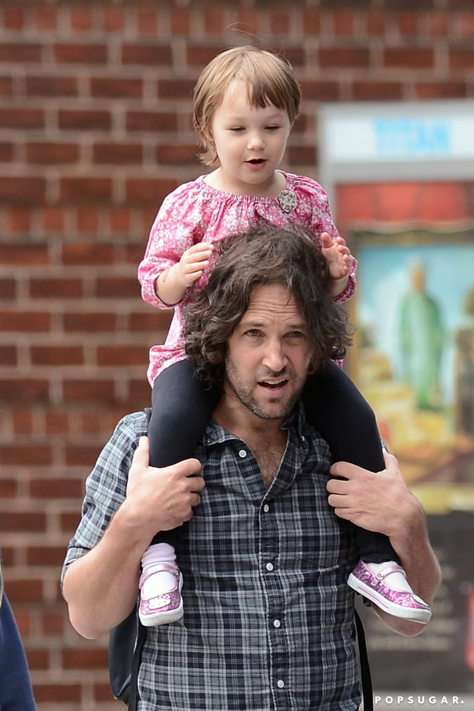 Paul Rudd took his daughter, Darby, to get ice cream in NYC.