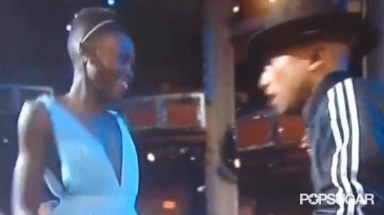 Pharrell Breaks It Down With Lupita