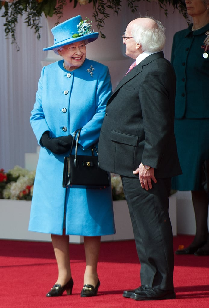 Queen Elizabeth II met with Irish President Michael D. Higgins during a historic state visit in Windsor on Monday. This is the first time that an Irish president has officially visited the queen on a state visit.