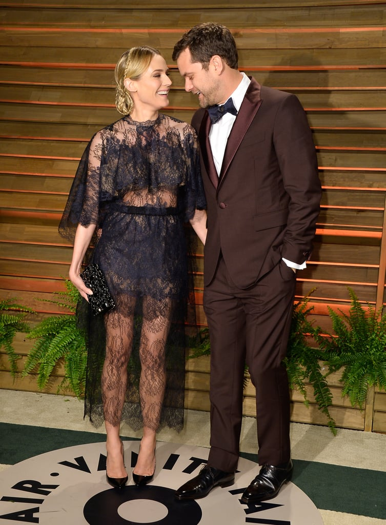 Joshua Jackson and Diane Kruger shared a laugh.