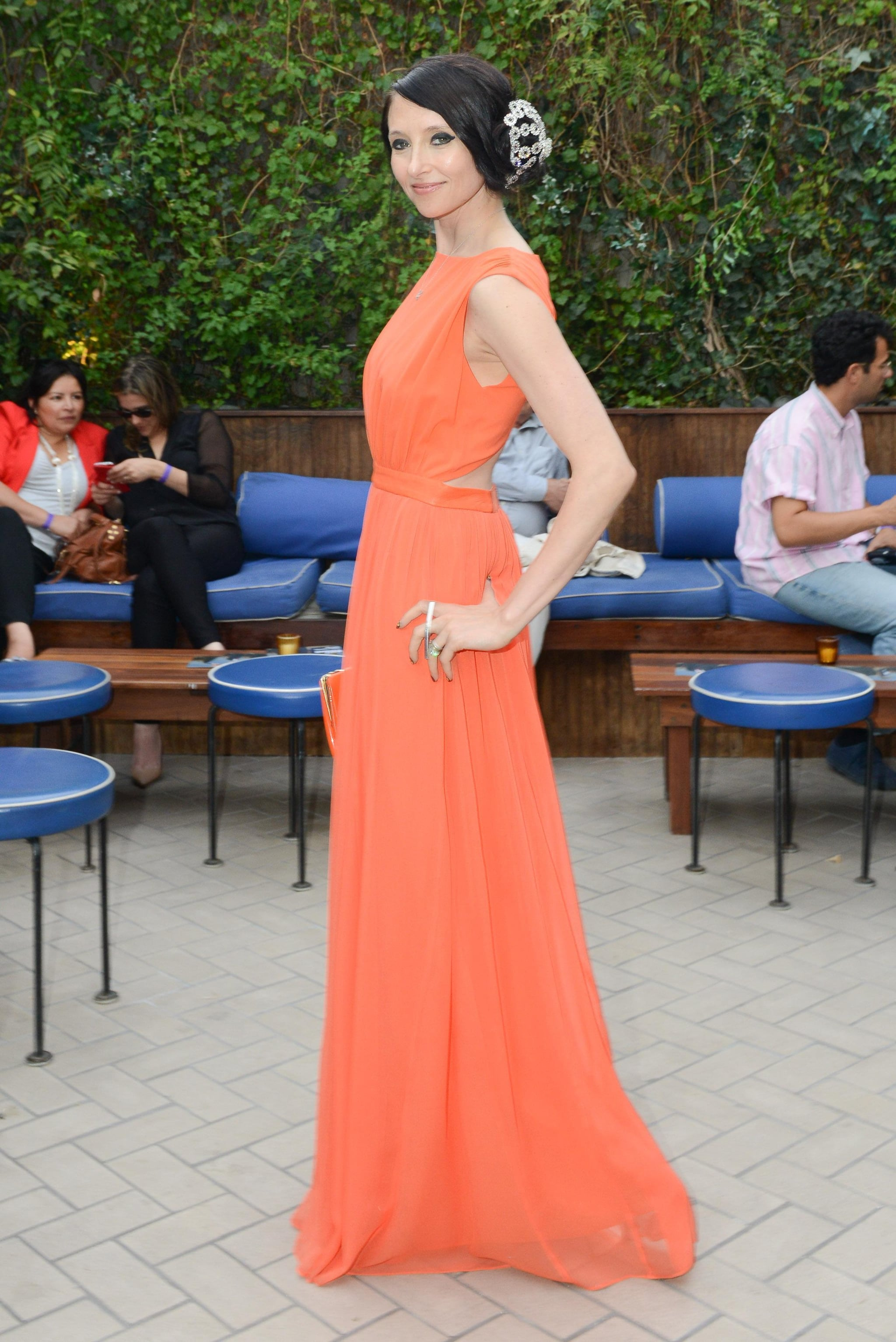 At the Young New York For Scott Stringer event, Stacey Bendet couldn't be missed in her bright orange design.