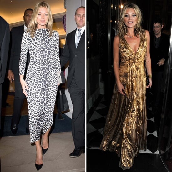 Kate Moss Toasts to Her Book Launch in Leopard and Gold