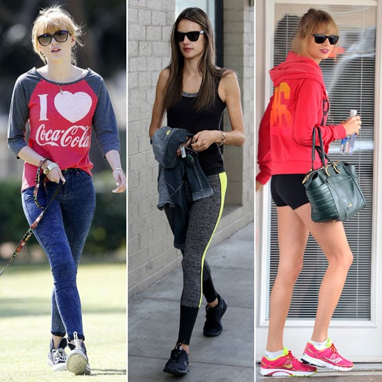 Celebrities Working Out and Celebrities at the Gym