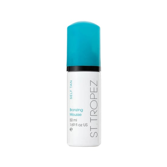 Maintain your faux glow with St. Tropez Bronzing Mousse ($18). Bonus: it's small enough that TSA won't confiscate it from your carry-on case.  — JC
