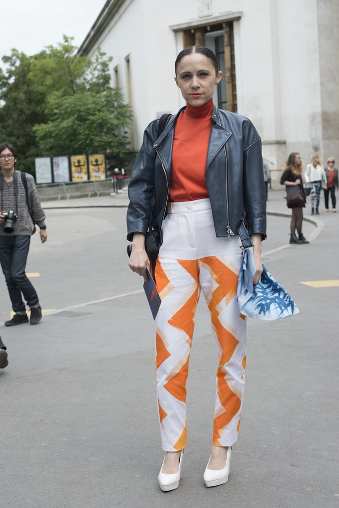A peppy pair of pants made all the difference in this look.