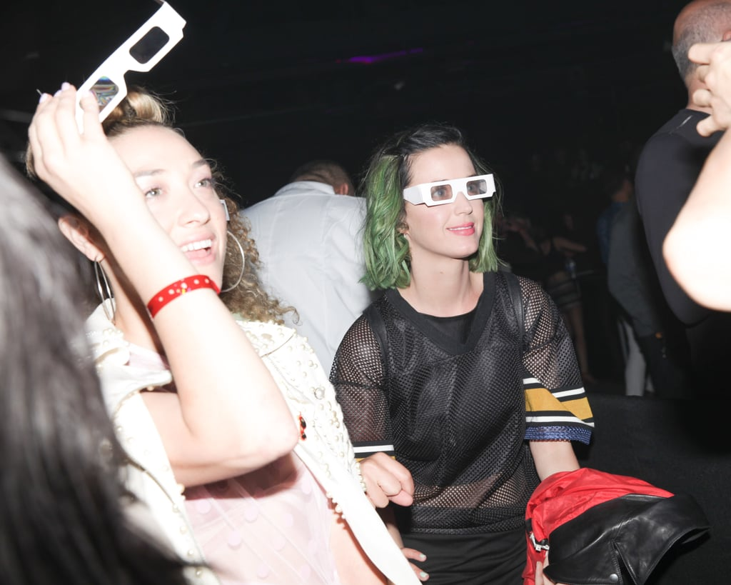Katy Perry rocked 3-D glasses at Alexander Wang's party.