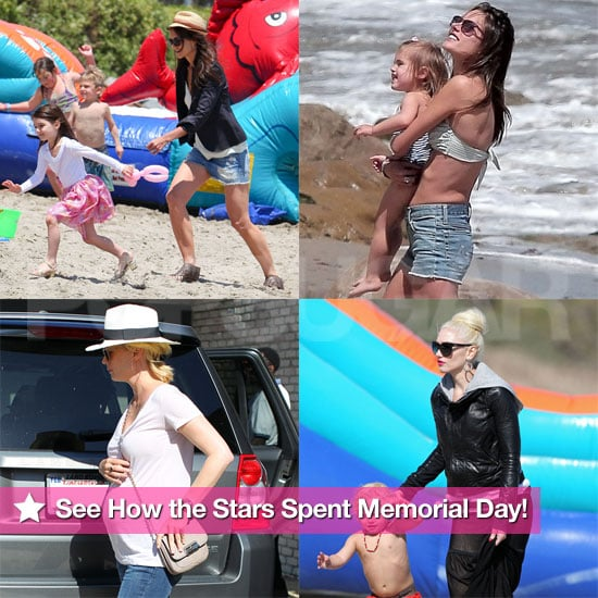 Katie Holmes and Suri Cruise Beach Pictures on Memorial Day With Gwen Stefani, January Jones, Alessandra Ambrosio