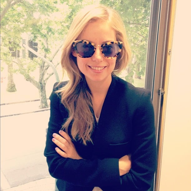Ali was sitting pretty in these adorable Miu Miu shades. Cateye for the win.