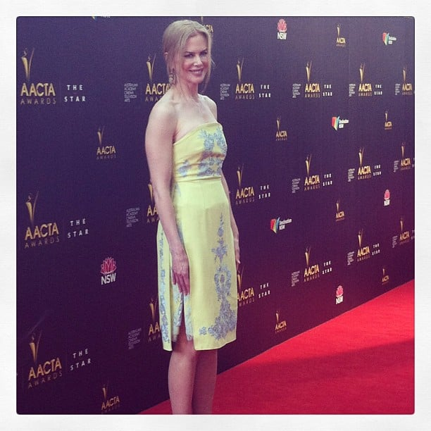 Nicole Kidman brightened up the AACTAs red carpet in Erdem, and we had front row seats for all the action.