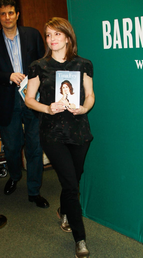 Tina Fey Divides Her Weekend Between Her Best-Selling Book Fans, Friends, and Family