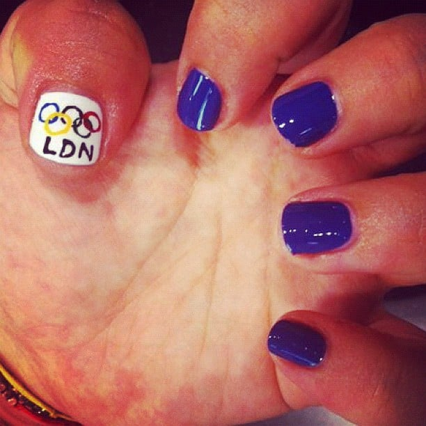 The Olympic rings were a popular nail choice this week at London's Wah Nails salon. Source: Instagram User wahnails