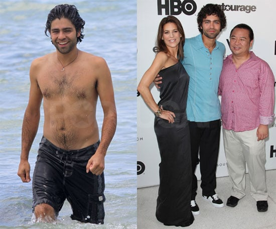 Photos of Adrian Grenier Shirtless Before an Entourage Event in Miami
