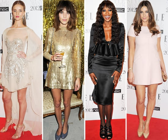 Naomi Campbell, Alexa Chung, Rosie Huntington Whiteley Elle Style Awards