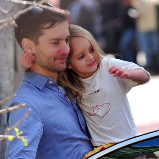 Pictures of Tobey Maguire Picking Ruby Maguire Up From School in LA