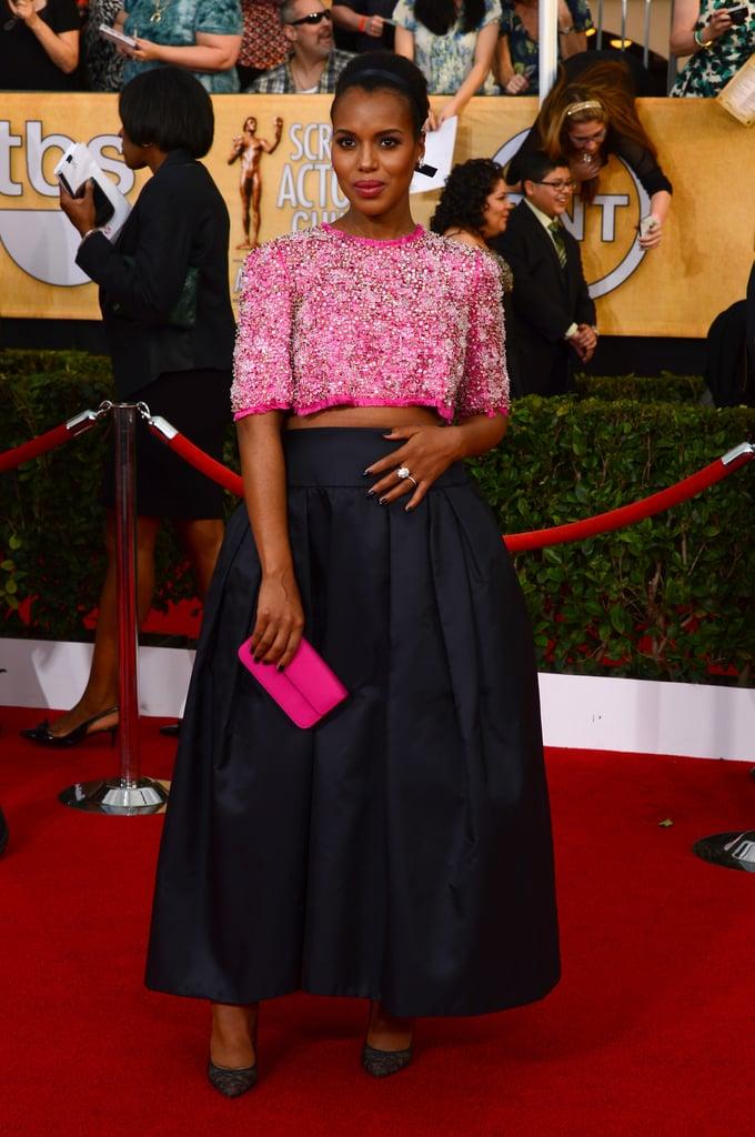 Kerry Washington Bares Her Baby Bump at the SAG Awards