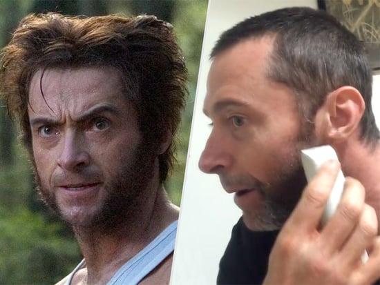 Goodbye, Wolverine! Watch Hugh Jackman Shave Off His Trusty Chops