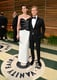 Anne Hathaway and Adam Shulman coordinated in black and white.