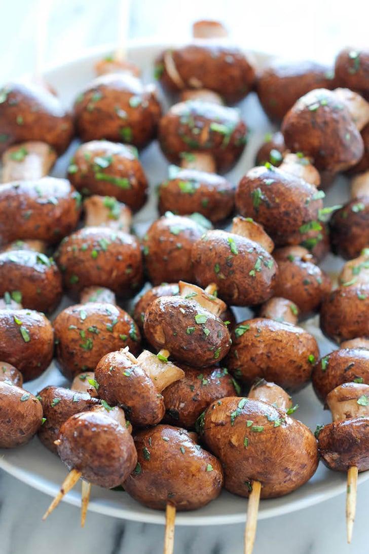 Garlic Mushroom Kebabs