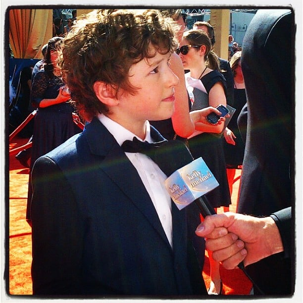 Modern Family's Nolan Gould chatted with press along the carpet.  Source: Instagram user usatoday